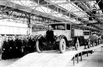 Ford AA production at Dagenham (copyright image)