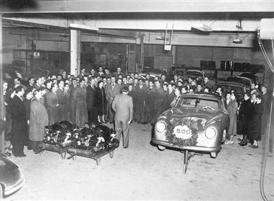 The 500th Porsche 356 left the plant in 1951 (copyright image)