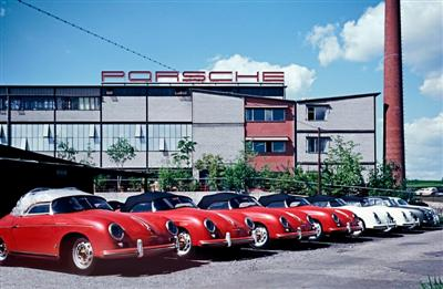 The Porsche Plant 2 at Zuffenhausen in the year of 1957 (copyright image)