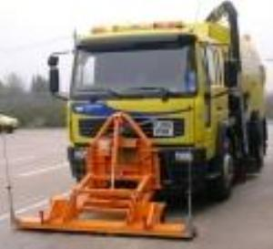 British road sweeper with giant magnet