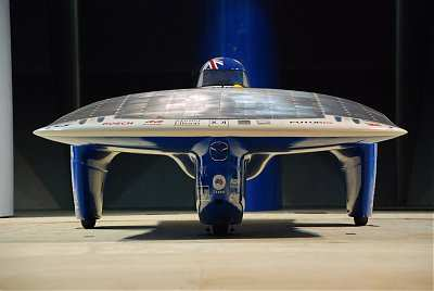 Aurora 101, which came third in class at the 2007 World Solar Challenge at an average of 85 km/h
