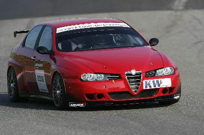 Testing the Alfa Romeo 156 WTCC car