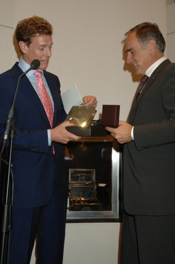 Mr James Ogilvy (left) Publisher, Luxury Briefing 