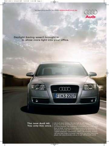 Audi A6 advertising - Next Car Pty Ltd - 1st October, 2004