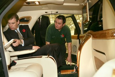 Prince Andrew visited Bentley Motors  on 10th November, 2005