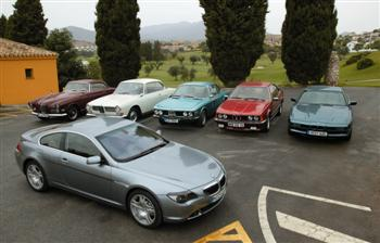 Six BMW coupes from over the years (copyright image)