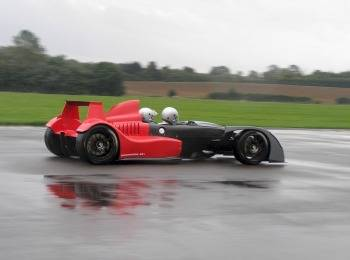 Caparo T1 prototype completes its preliminary test trial. The Caparo T1 co-creators Ben  Scott-Geddes and Graham Halstead each take turns at the wheel during the first  few runs.