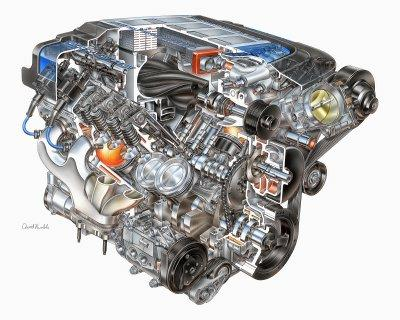 2009 Chevrolet Corvette ZR1 engine 