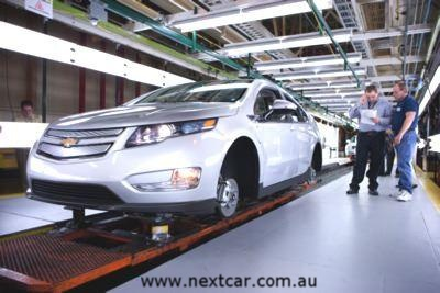 First Chevrolet Volt rolls off the line (copyright image)