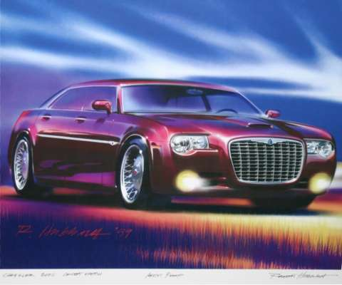 Bob Hubbach's sketch of the original concept for the 300C