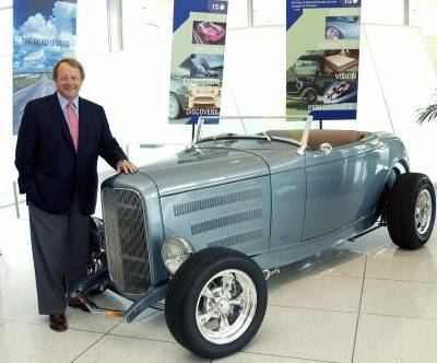 Edsel Ford II with a 2006 Dearborn Deuce