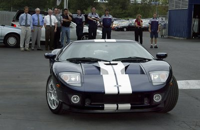 The first 2005 Ford GT is delivered