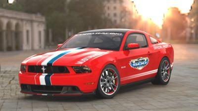 2011 Ford Mustang GT shown in 2010 Daytona 500 pace car livery (copyright image)