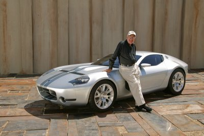 Carroll Shelby and the Ford Shelby GR-1 concept car