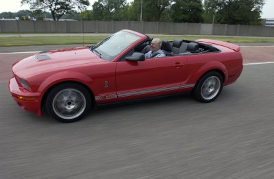 Carroll Shelby and the  2007 Ford Shelby GT500 convertible