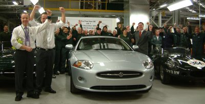 Jaguar XK production is underway