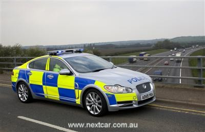 Jaguar XF police car (copyright image)