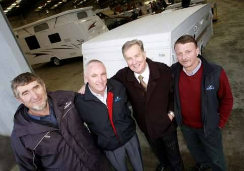 Between them they have well over 100 years total Jayco experience, from left, 
