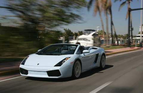 Lamborghini Gallardo Spyder Blue World