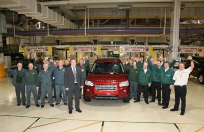 The 100,000th Land Rover Freelander 2