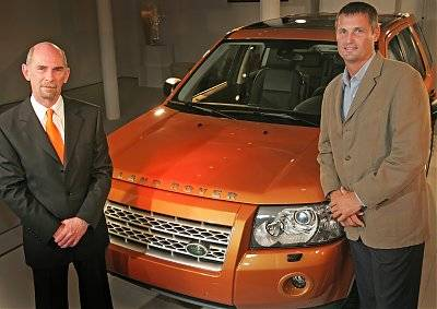 Land Rover's Phil Popham (right) and Geoff Upex reveal the all-new Freelander 2 