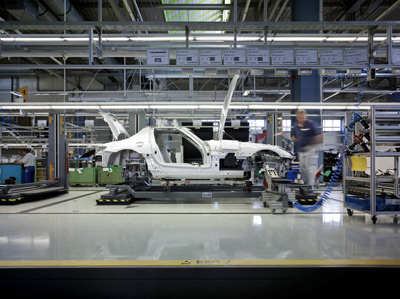 Mercedes-Benz SLS AMG in production - Image Copyright Mercedes-Benz