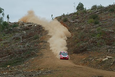 The Mitsubishi Lancer  Evolution IX driven by  Scott Pedder with  Glen Weston won two  of the seven forest  stages in the second  heat around Nannup  and was second in  three others.