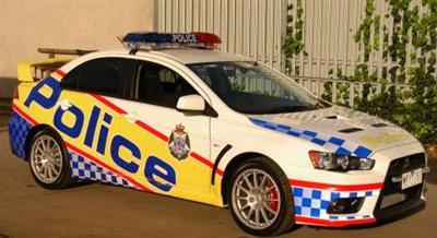 Mitsubishi Lancer Evolution X (Victoria Police livery) (copyright image)