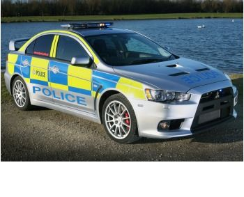2008 Mitsubishi Lancer Evolution X in South Yorkshire Police livery (copyright image)