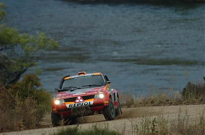 Mitsubishi Pajero Evolution in action at the Patagonia Rally
