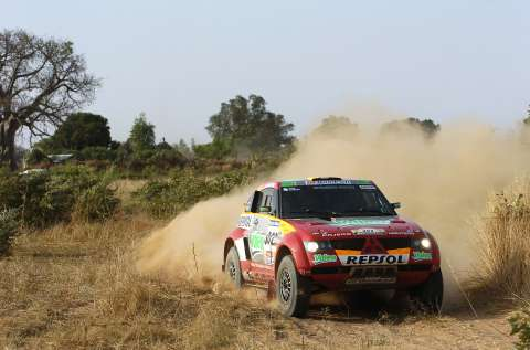Repsol Mitsubishi Ralliart Team  driver Luc Alphand and co-driver  Gilles Picard clinched victory in  the 28th Dakar Rally yesterday