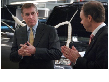 Prince Andrew Visits Rolls-Royce