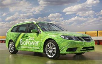 Saab's E85 BioPower promotional vehicle (copyright image)