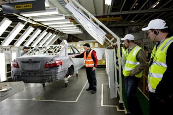 Toyota Altona Plant tour by dealer staff (copyright image)