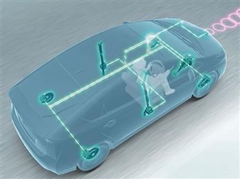 Advanced safety technologies on the next-generation Prius are centred on a radar  sensor mounted behind the Toyota badge (copyright image)