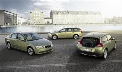 Volvo Cars will unveil its new DRIVe models at the Paris Motor Show in October. The DRIVe cars include C30, S40 and V50 models pictured. Copyright image.