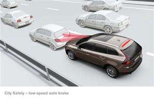 City Safety:  low-speed crash avoidance standard on the new Volvo XC60  (copyright image)