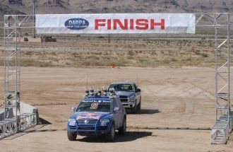 Driverless Touareg triumphs in the world's most technically demanding car race