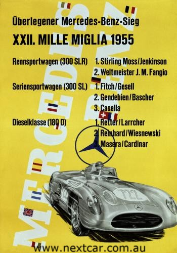 Mercedes-Benz advertisement from 1955