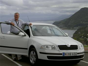 Stephen Walker with the Skoda Octavia