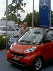 The Editor, Stephen Walker, with the new Smart Fortwo.