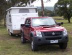 Holden Rodeo LX 4x4 tow test (copyright image)