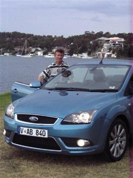 Ian Barrett with the Ford Focus Coupe-Cabriolet  Image copyright: Next Car Pty Ltd  Click on the image for a larger view