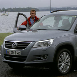 Ian Barrett with the 