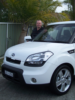 Ken Walker with the  Kia Soul 3 (copyright image)