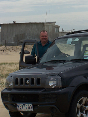 Ken Walker with the Suzuki Jimny Sierra (copyright image)