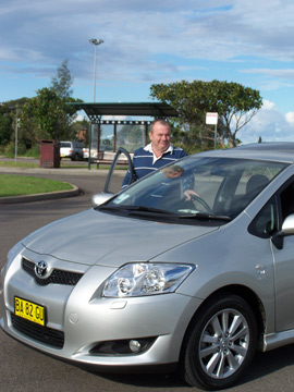 Ken Walker with the  Toyota Corolla Levin SX (copyright image)
