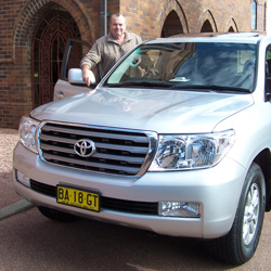 Ken Walker with the  Toyota Land Cruiser (copyright image)