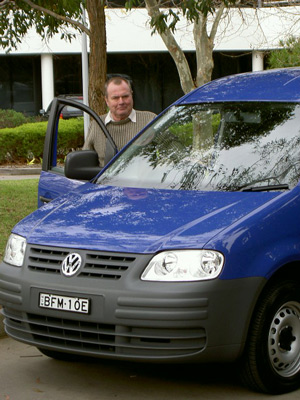 Ken Walker with the Volkswagen Caddy Maxi (copyright image)