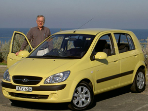 Stephen Walker with the  Hyundai Getz SX (copyright image)